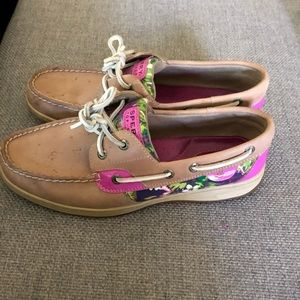 Bright, Flowery Sperry Top-Sider Shoes